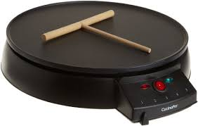 "Crepe Maker and Non-Stick 12"" Griddle by CucinaPro (1448) - Includes Spreader and Recipe Guide"