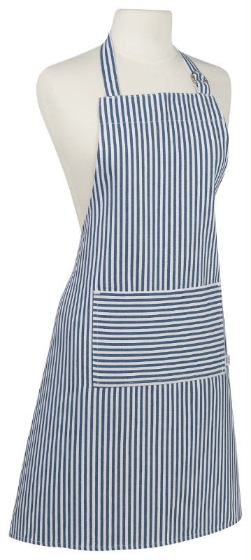 Basic Apron Narrow Stripe Royal